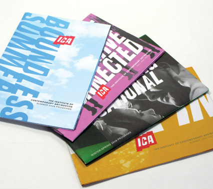 a selection of program brochure covers