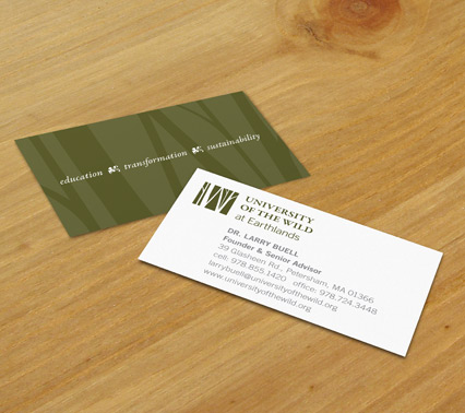 U of W business card